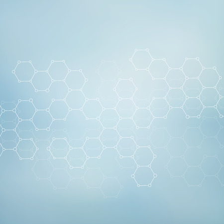 medicine background: Structure molecule of DNA and neurons. Abstract background. Medicine, science and technology. Vector illustration for your design.