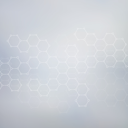 abstract vector background: Structure molecule of DNA and neurons. Abstract background. Medicine, science and technology. Vector illustration for your design.