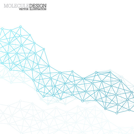 network connection: Structure molecule of DNA and neurons. Abstract background. Medicine, science and technology. Vector illustration for your design.
