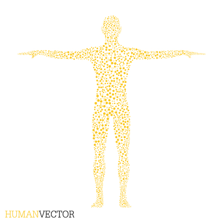 bases: Human. Structure molecule of man. Vector illustration. Medicine, science and technology. Scientific Vector for your design.