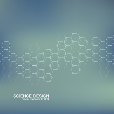 bases: Structure molecule of DNA and neurons. Abstract background. Medicine, science and technology. Vector illustration for your design.