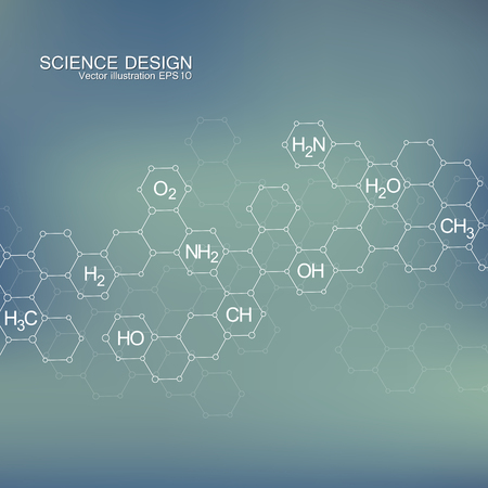 data bases: Structure molecule of DNA and neurons. Abstract background. Medicine, science and technology. Vector illustration for your design.