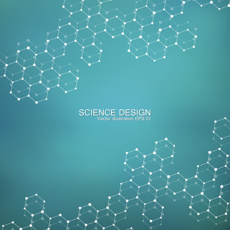compounds: Structure molecule of DNA and neurons. Structural atom. Chemical compounds. Medicine, science, technology concept. Geometric abstract background. Vector illustration for your design