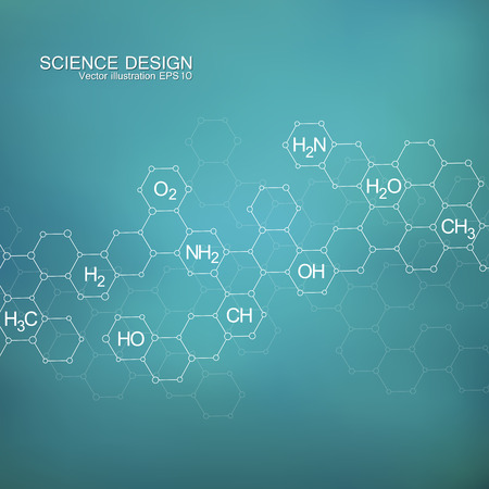 data bases: Structure molecule of DNA and neurons. Structural atom. Chemical compounds. Medicine, science, technology concept. Geometric abstract background. Vector illustration for your design