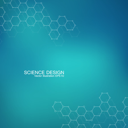 Structure molecule of DNA and neurons. Structural atom. Chemical compounds. Medicine, science, technology concept. Vector illustration for your design