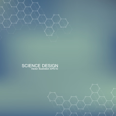 data bases: Structure molecule of DNA and neurons. Structural atom. Chemical compounds. Medicine, science, technology concept. Vector illustration for your design