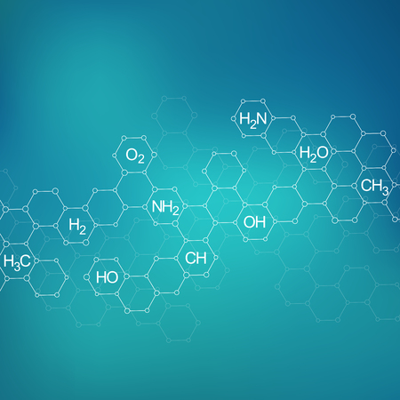 Molecule dna, genetic and chemical compounds, illustration Stock Photo