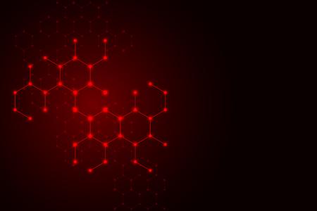 Molecule dna, genetic and chemical compounds, illustration Banco de Imagens