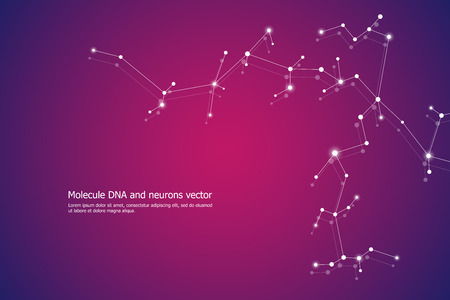Abstract molecule background, genetic and chemical compounds, medical, technology or scientific concept, vector illustration Illustration