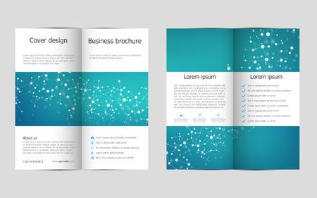 Bi-fold business brochure template Illustration