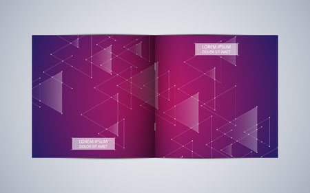 Bi fold square brochure template layout
