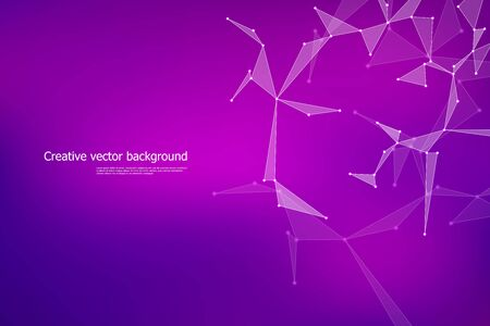 Polygonal abstract concept brochure