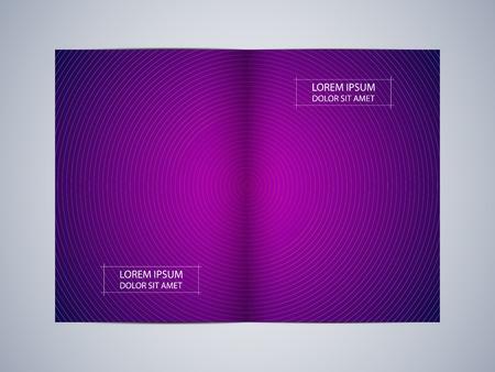 Bi fold brochure template layout