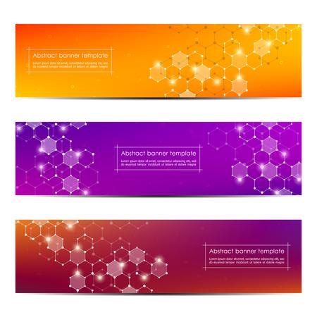 Technological and scientific banners Ilustração