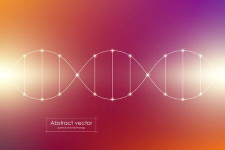 DNA spiral system, vector illustration Stock Photo
