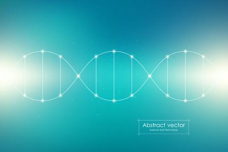 DNA spiral system, vector illustration Illustration