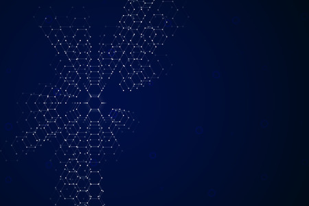 Abstract hexagonal background, science and technology concept, illustration.