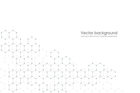 Abstract hexagonal background. Medical, scientific or technological concept. Geometric polygonal graphics. vector illustration Stock Vector - 91722131