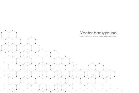 Abstracte zeshoekige achtergrond. Medisch, wetenschappelijk of technologisch concept. Geometrische veelhoekige afbeeldingen. vector illustratie