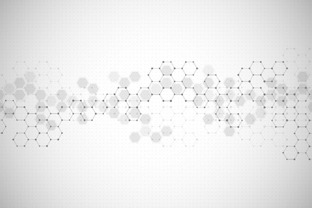 Abstract hexagonal background. Medical, scientific or technological concept. Geometric polygonal graphics. vector illustration.