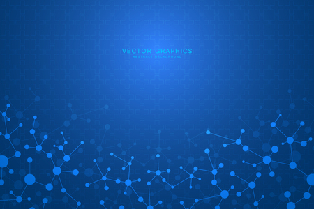Vector molecule background, genetic and chemical compounds.