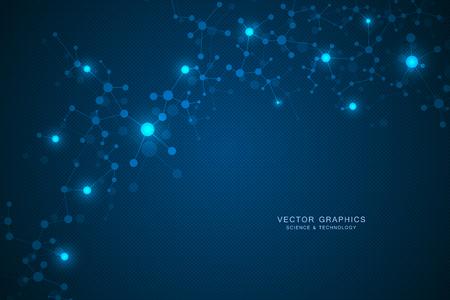 분자 구조 배경. 유전 및 과학 연구. 스톡 콘텐츠 - 98469489