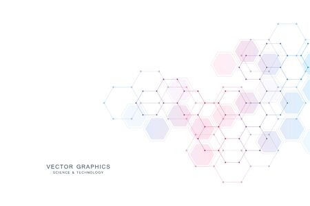 Medical technology or science vector background. Molecular structure and chemical compounds Stock Illustratie
