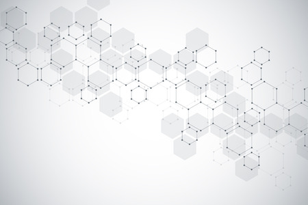 Molecular structure background. Abstract background with molecule DNA.