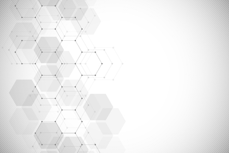 Medical background from hexagons. Geometric elements of design for modern communications, medicine, science and digital technology. Hexagon pattern background.
