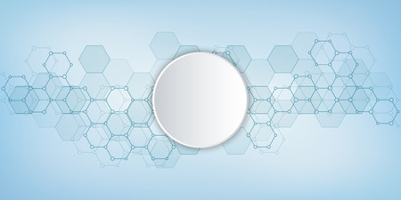 Medical background from hexagons pattern. Geometric elements of design for modern communications, medicine, science and digital technology. Hexagon pattern background, vector illustration