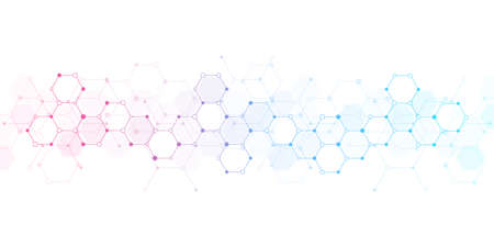Abstract background of molecules. Molecular structures or chemical engineering, genetic research, innovation technology. Scientific, technical or medical concept