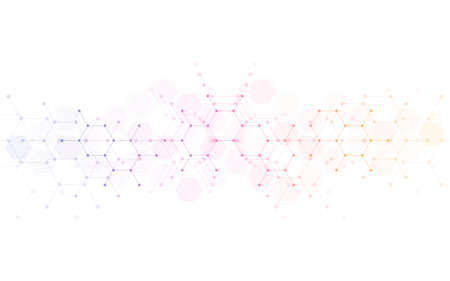 Geometric abstract background with hexagons pattern. Concepts and ideas for technology, science, and medical design. Vector illustration. 矢量图像