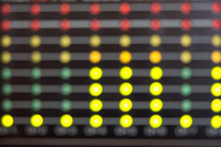 Blurred Audio level LEDs indicators Stock Photo