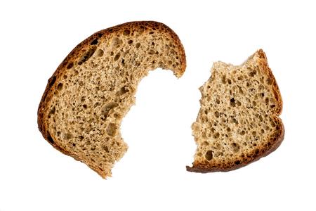 Two half-eaten piece