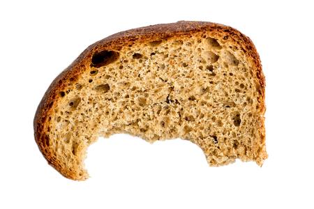 galletas integrales: Mitad, comido, pedazo, seco, centeno, bread