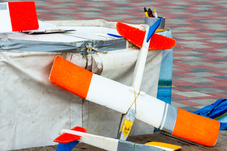 airstrip: Model of a light aircraft hand made