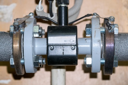 Sanitary engineering. Connection of the supply pump in the home heating system. Connection of plastic pipes through tees fittings. Home heating system, water supply
