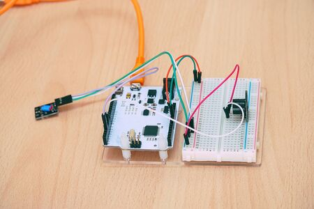 Small electronic Board with chips and wires