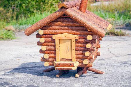 Model fabulous hut on chicken legs. Baba Yagas House Banco de Imagens