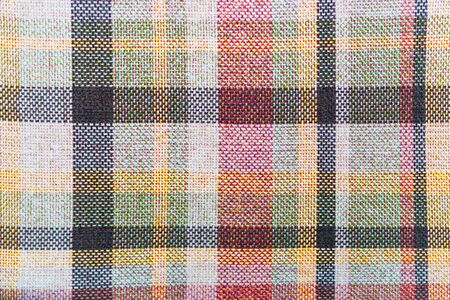 Texture of fabric with a classic check pattern