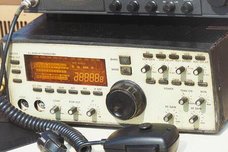 Old Amateur radio transmitter transceiver. Ham radio Stock fotó - 132035460