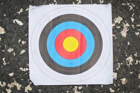 Standard color target for shooting on a black background
