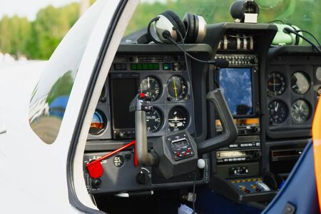 View of the dashboard light sport aircraft