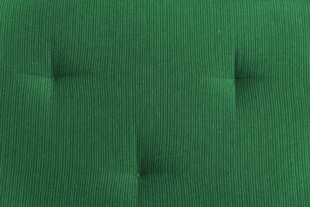 A fragment of the upholstery of the sofa of green color close up