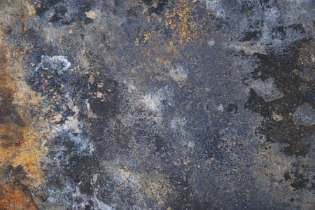 Rusty steel sheet surface for background and design
