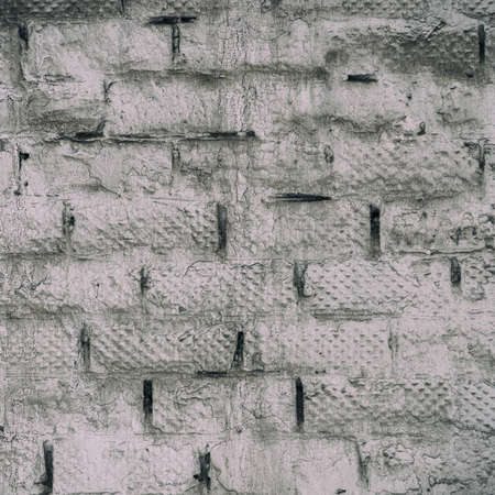 The texture of the White and grey dirty brick wall for background and design Zdjęcie Seryjne