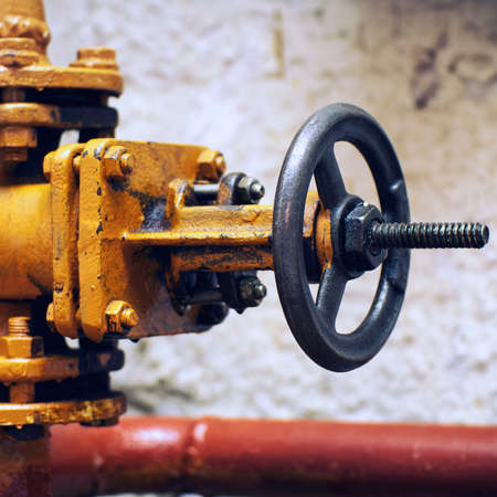 Industrial valve on gas supply or heating system pipe