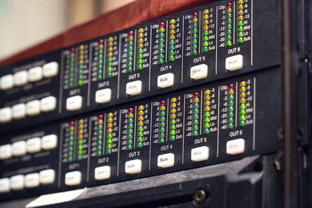 The volume indicator on amplifier panel