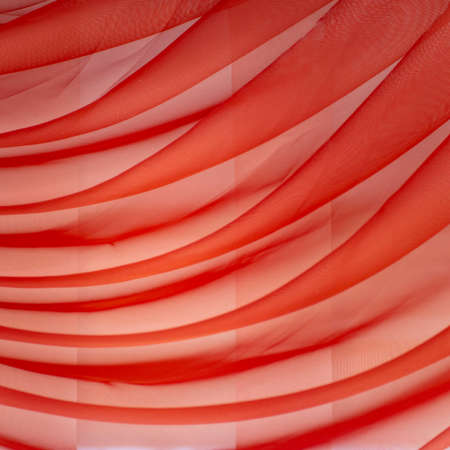 Horizontal folds on organza curtains for background