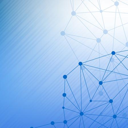 Strukturmolekül und Kommunikation Dna, atom, Neuronen. Science-Konzept für Ihr Design. Verbunden Linien mit Punkten. Medical, Technologie, Chemie, Wissenschaft Hintergrund.